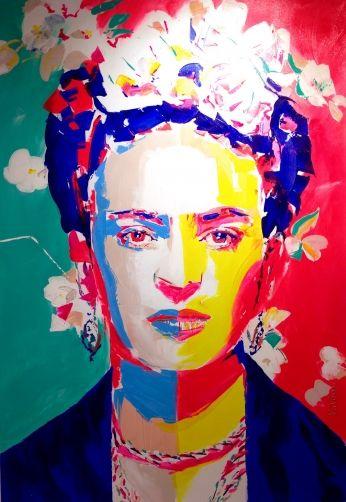 Poster Frida Kahlo Pintura Minimalista..