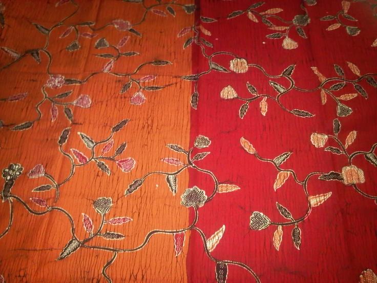 Batik tulis pagi-sore