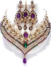 purple bridal jewelry, indian wedding