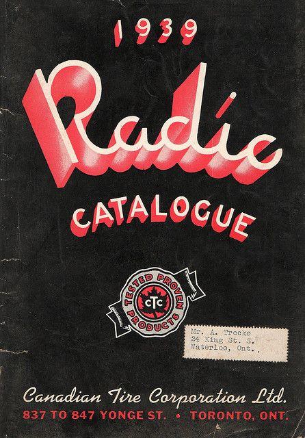 1939 Canadian Tire Radio Catalogue