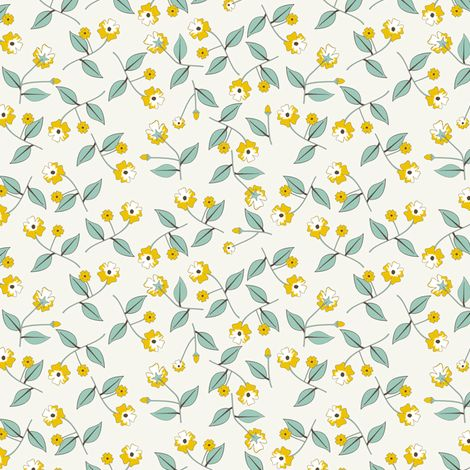 All About the Flowers - SoFt fabric by inscribed_here on Spoonflower - custom fabric