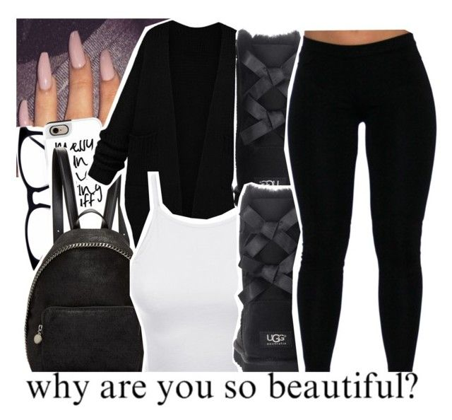 """Why Are You So Beautiful?"" by chynelledreamz ❤ liked on Polyvore featuring Casetify, STELLA McCARTNEY, LE3NO and UGG Australia"