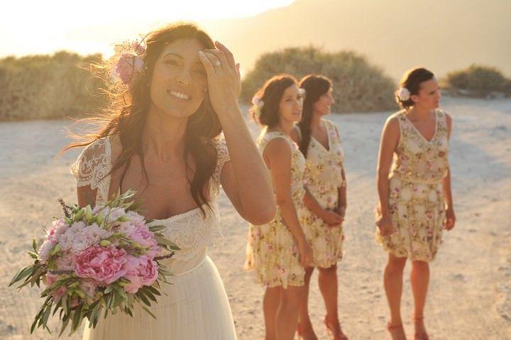 Stacey and Nick's Sun Set Santorini Wedding by Trim Photography