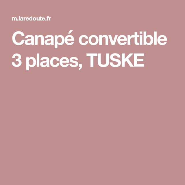 Canapé convertible 3 places, TUSKE