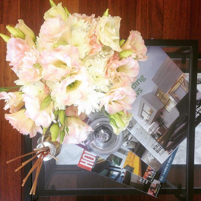 Office blooms for the first week back  #flowers #officeblooms #backatwork #yeswereopen #mener #menergroup #propertydeveloper #perth #Fremantle #fragrance #officelife #deskart