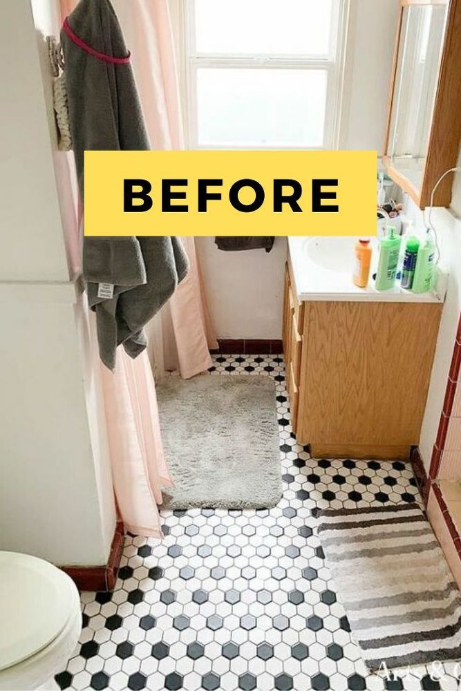 Diy Rental Bathroom Makeover Idea In 2020 Rental Bathroom Makeover Bathroom Makeover Rental Makeover