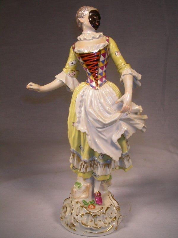 18th century harlequin | MEISSEN PORCELAIN HARLEQUIN FIGURINE