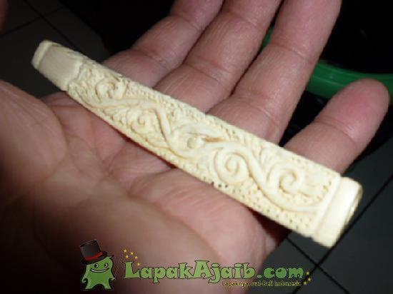 Pipa Gading Rokok Ukir Ranting P:10,1 cm ( PRG 36)