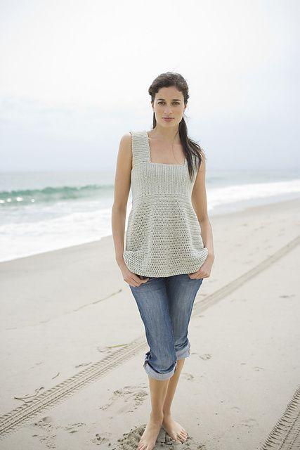 Sea Breeze Crochet Top: free pattern 3.75 mm and 5.5 mm hook