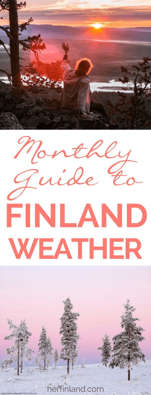 Travel plan and pack right with the help of this Weather in Finland by Month-guide! If you haven't booked yet, this article, written by a local, can help you choose the perfect time for your visit, depending on where in Finland you want to travel!