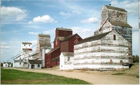 Grain Elevator Row, Inglis. The five elevators in Inglis are remarkable. They are not only the last example in Manitoba of an elevator row, they are also the best remaining example in Canada. In 1996 the line was declared a site of national historic significance.