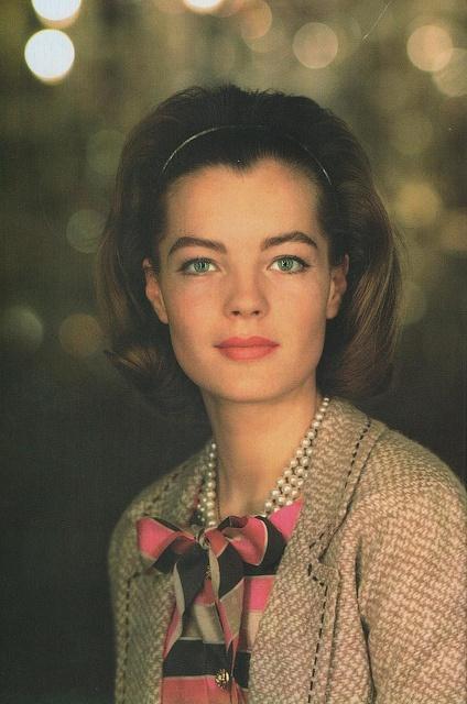 Portrait de Romy Schneider en Chanel - vers 1963