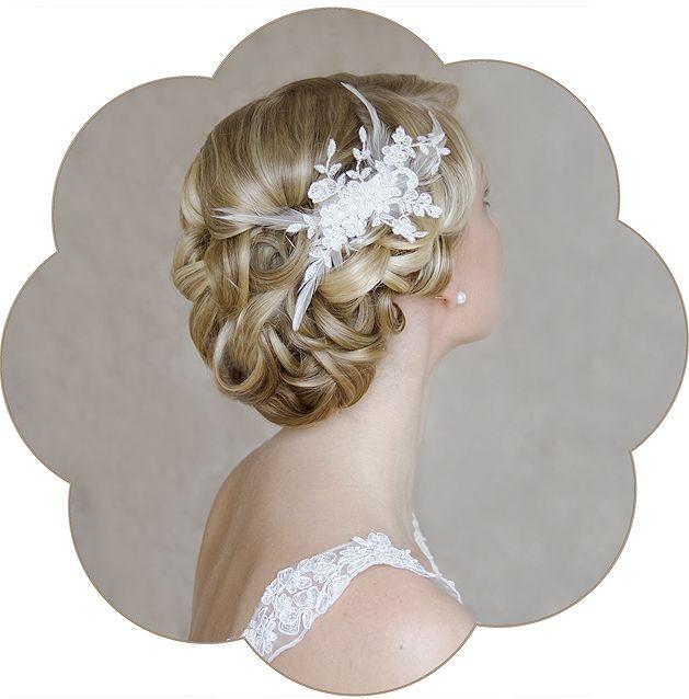 BERNICE Braut Spitzen Haarschmuck Vintage - SCHÖNMICH® ACCESSOIRES
