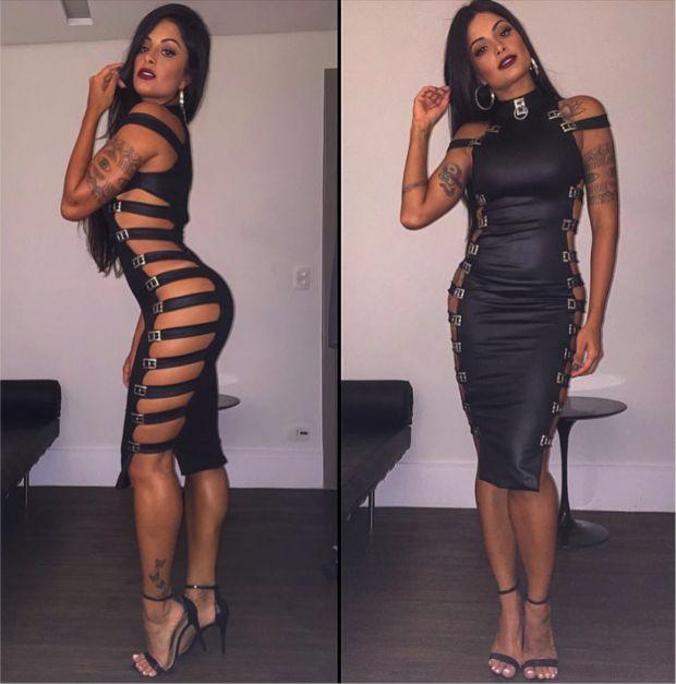 'Desafio' com vestido de Aline Riscado gera comentários machistas #timbeta #sdv #betaajudabeta