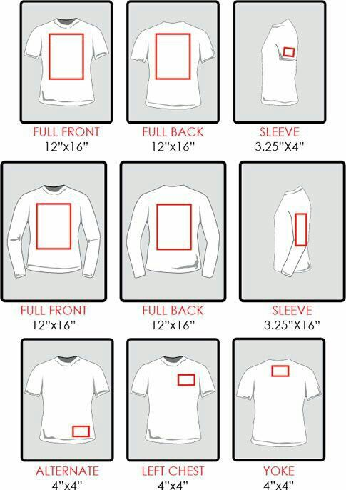HTV sizing for shirts. How big do I make my image?