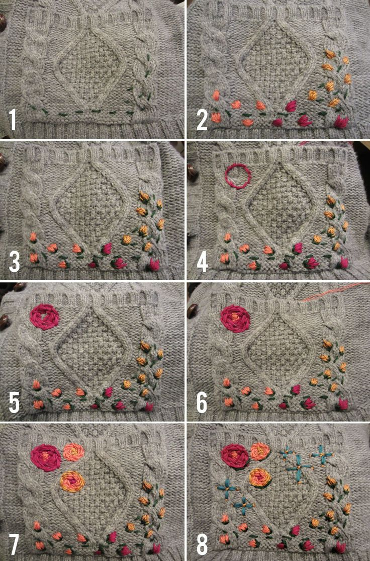 Diy embroidered cardigan embroidery stitch and crochet