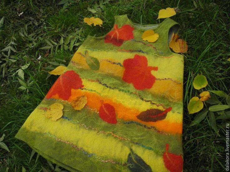 Валяный детский сарафанчик «Листопад» - Ярмарка Мастеров - ручная работа, handmade