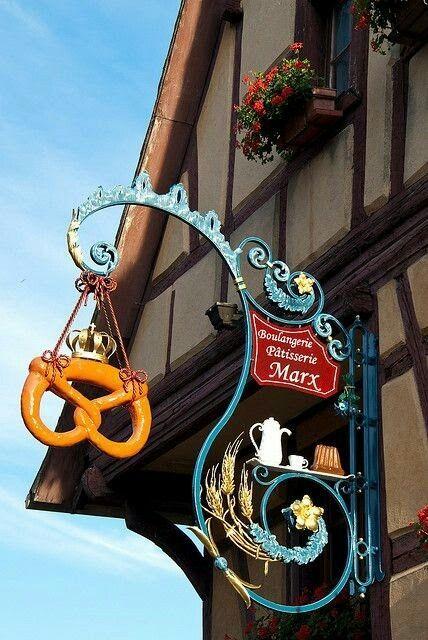 Boulangerie Pâtisserie MARX 39 Grand Rue, Eguisheim, França – Zunft- u Häuser …   – Hummels Karten♠ Plakate♠Button…