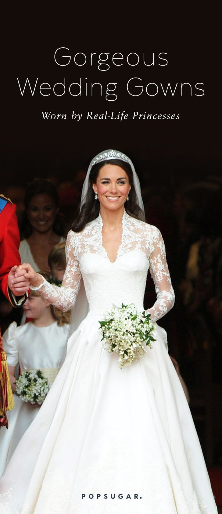 6798e3c2a30 21 Breathtaking Wedding Gowns Worn by Real-Life Princesses