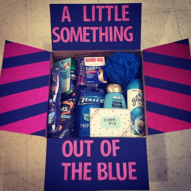 "Care Package for my Soldier! ""A little something out of the blue"""