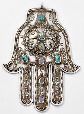 Antique Hamsa Home Protection Amulet - I want one of these hanging by the front door.