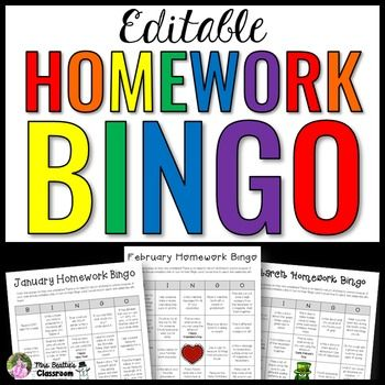 Homework Bingo Activities: Parents love homework, but it can take a lot of extra time to prepare homework packages to send home with students every month. My Homework Bingo will simplify this for you!