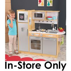 A Mastermind Toys Exclusive! It's time to cook up a little fun with the Uptown Natural Kitchen from KidKraft! Featuring a modern look that young chefs are sure to love, this beautiful kitchen made of composite wood materials is large enough for multiple kids to play together at once and is perfect for make believe play! http://www.mastermindtoys.com/KidKraft-Uptown-Natural-Kitchen.aspx