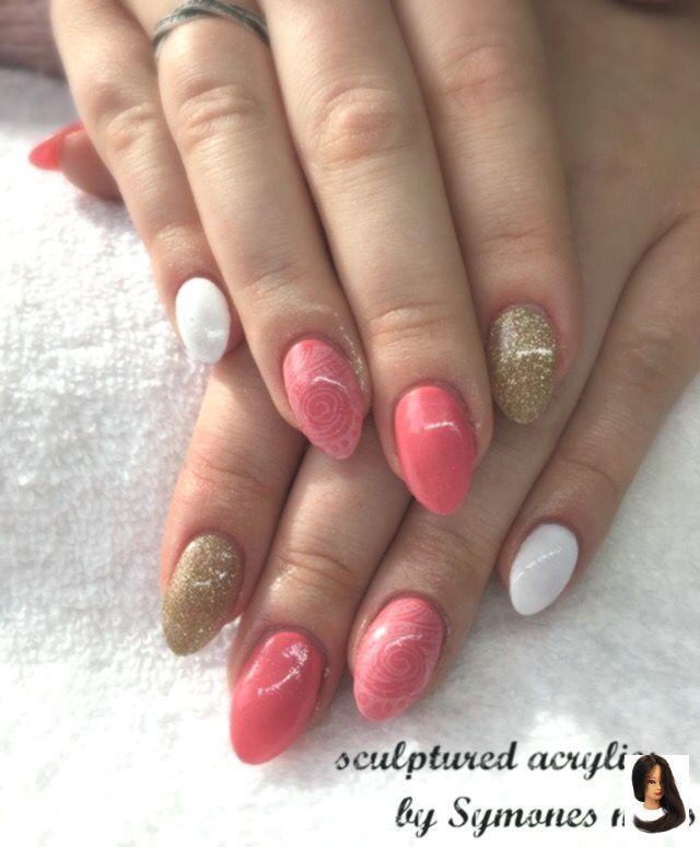 #Glitter #Nägel #Skulpturen #Frühling #Frühlingsnägel Koralle #Stil – Nails Ideas