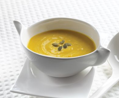 Garlic Squash and Ricotta Soup with Tre Stelle® Extra Smooth Ricotta Cheese #soup #ricotta #recipe