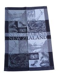Jacquard NZ Scenery Birds Flowers Tea Towel - tea, towel, birds, flowers, lovely, having, ... - Shopenzed.com