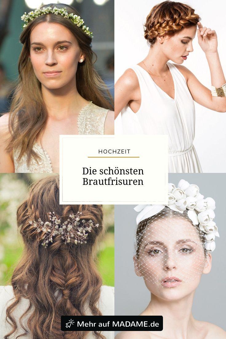 Die Schonsten Brautfrisuren Brautfrisur Brautfrisuren Haarreif Haar Styling