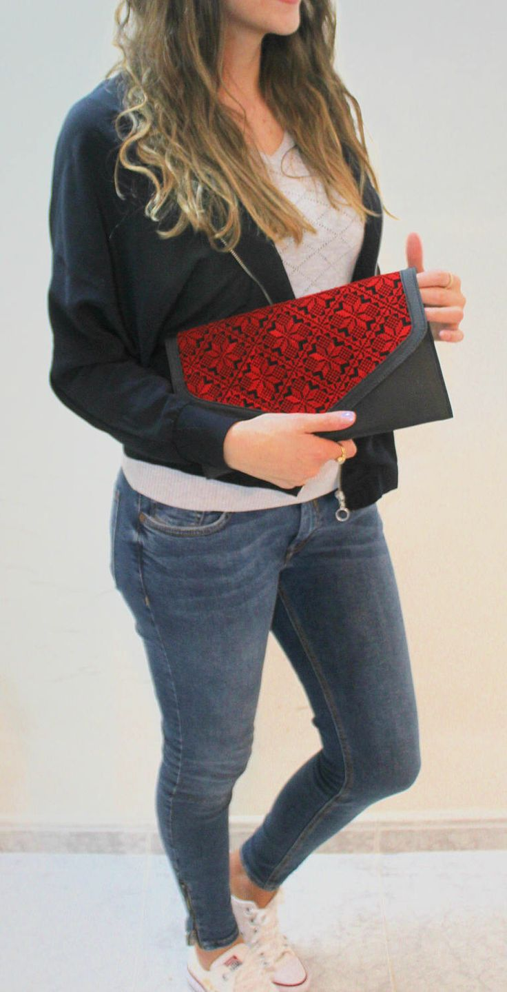A personal favorite from my Etsy shop https://www.etsy.com/il-en/listing/508487246/red-embroidered-wallet-handmade