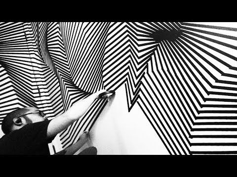 Optical Tape Installation by Darel Carey - Dimensionalizing the Studio: Topographical Space - YouTube