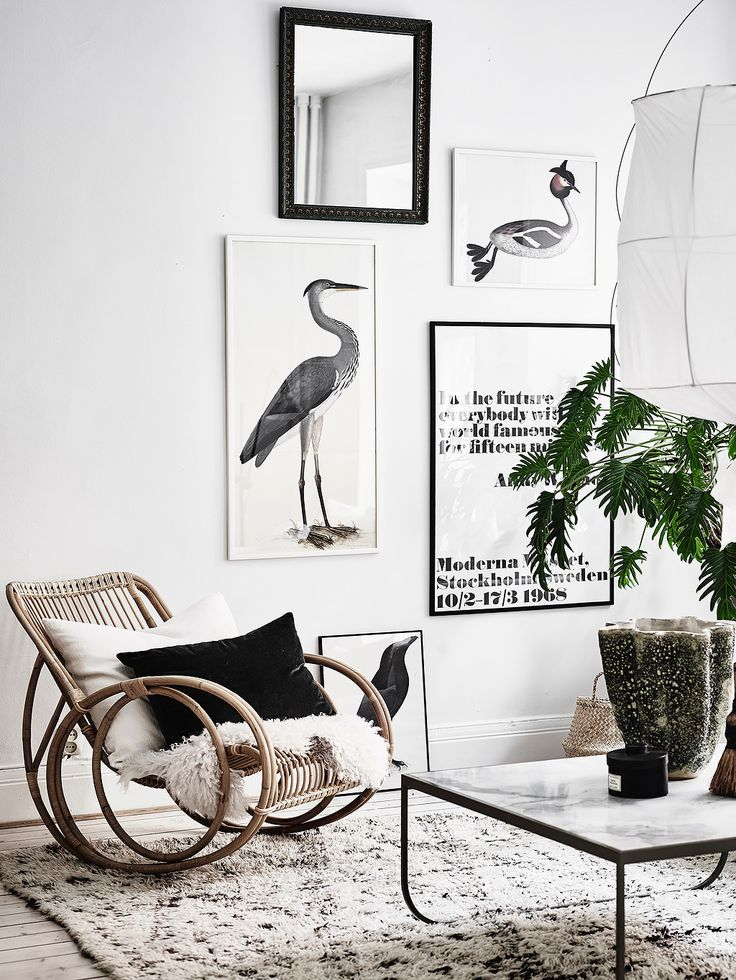 Love the rattan rocking chair