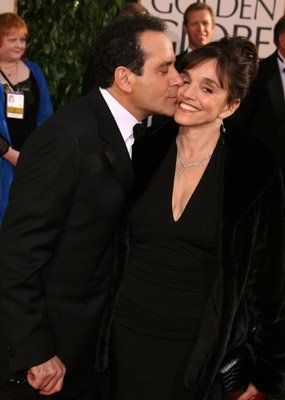 "Shalhoub married actress Brooke Adams in 1992. The two have worked together in several films, one episode of Wings, and Adams has appeared credited as a ""Special Guest Star"" in five episodes of Monk. Adams first appears in ""Mr. Monk and the Airplane"" as Leigh Harrison, a flight attendant driven to drinking by Monk's eccentricities."