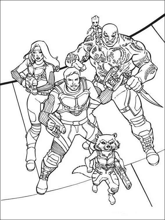 guardians of the galaxy 2 coloring pages Printable coloring pages for kids Guardians of the Galaxy 10 | For  guardians of the galaxy 2 coloring pages