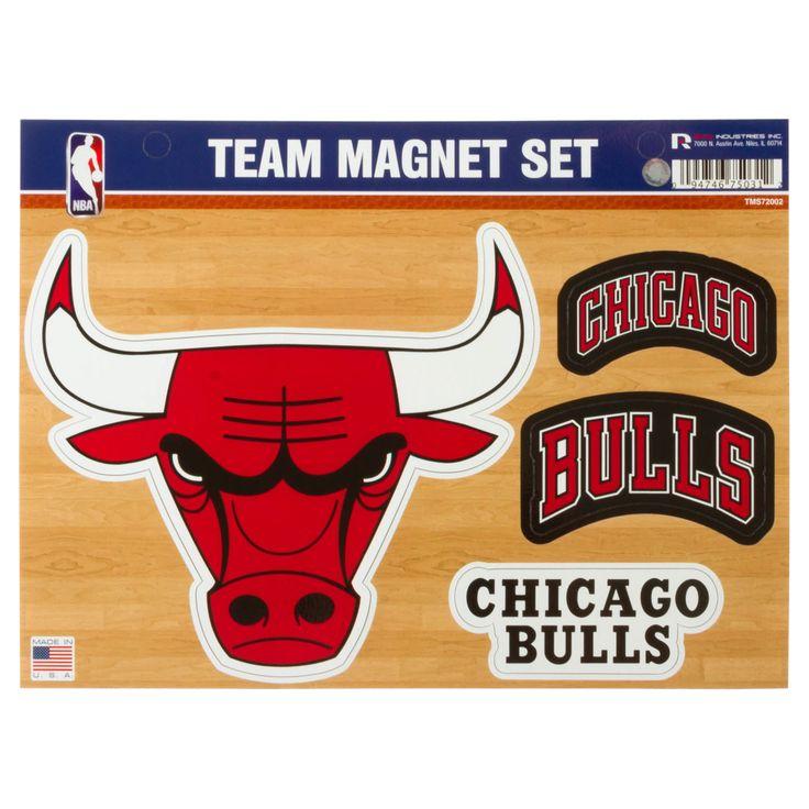 Chicago Bulls Team Magnet Set by Rico #Chicago #Bulls #ChicagoBulls