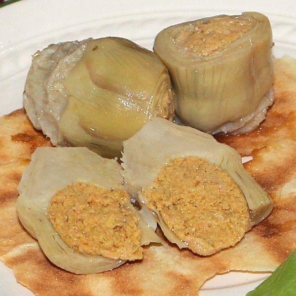 Carciofini farciti con pesce affumicato e bottarga - SardinianStore. Prodotti Tipici Sardi