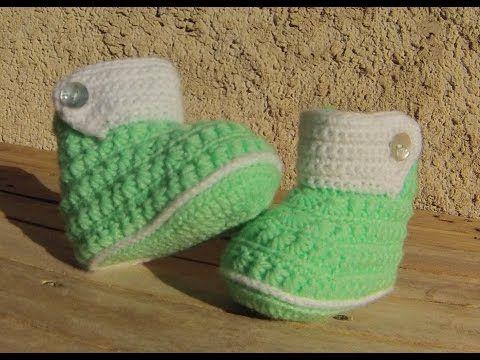 Chaussons bottines bébé crochet DIY / Botitas bebe crochet (partie1) - YouTube
