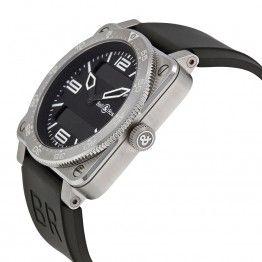 Bell & Ross Aviation Black Dial Steel Case Mens Watch 03-TYPE-AVI-ST