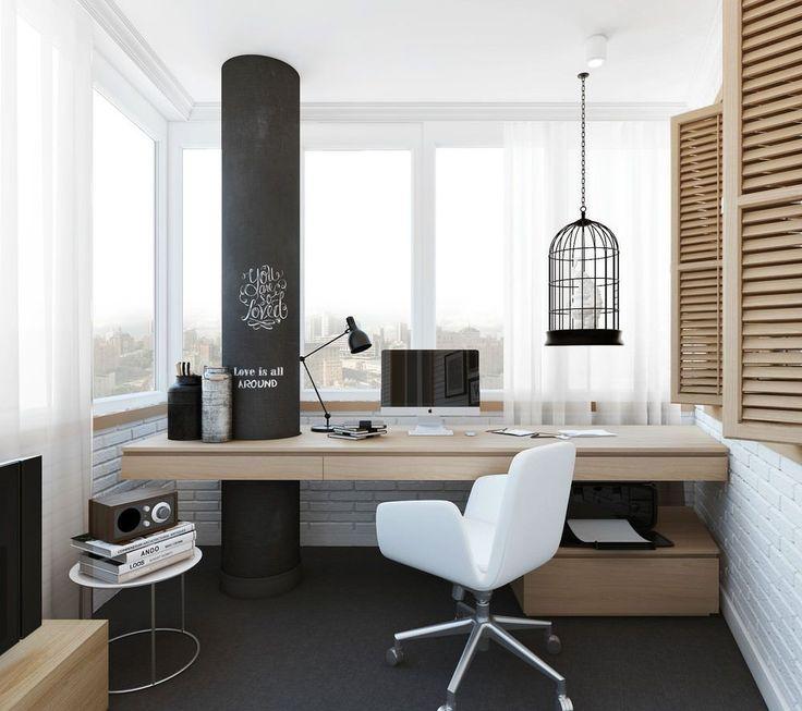 55 идей дизайна рабочего места: у окна, в шкафу, детское рабочее место http://happymodern.ru/dizajn-rabochego-mesta/ Утепленные и застекленные лоджии легко вмещают средних размеров письменный стол со всем необходимым, превращаясь в уютный современный кабинет, достаточно изолированный, чтобы вам не мешали работать и творить Смотри больше http://happymodern.ru/dizajn-rabochego-mesta/