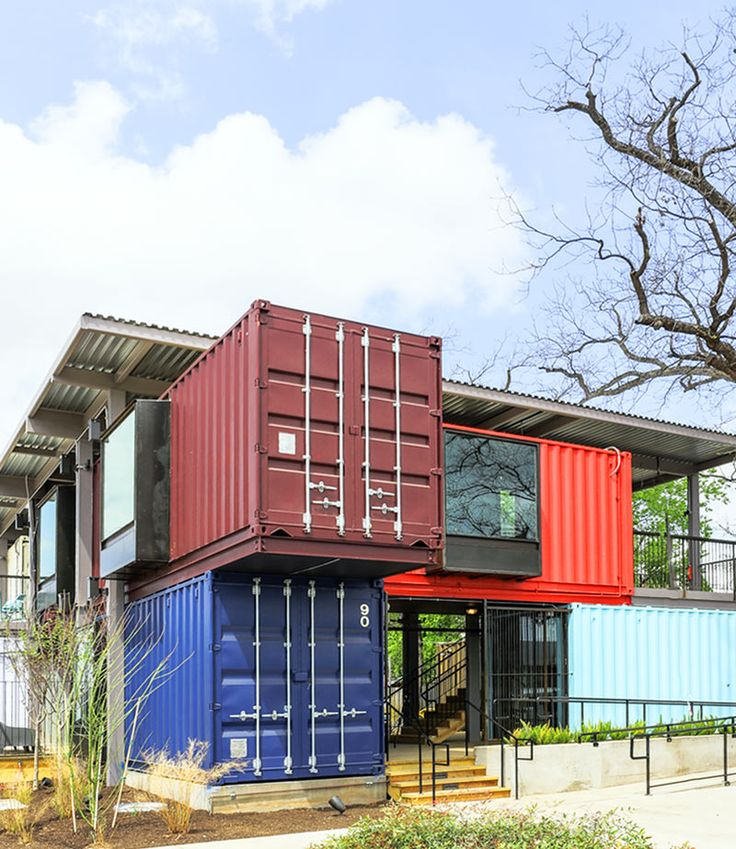 A bar built from shipping containers buy salvia bar and design - Container homes austin ...