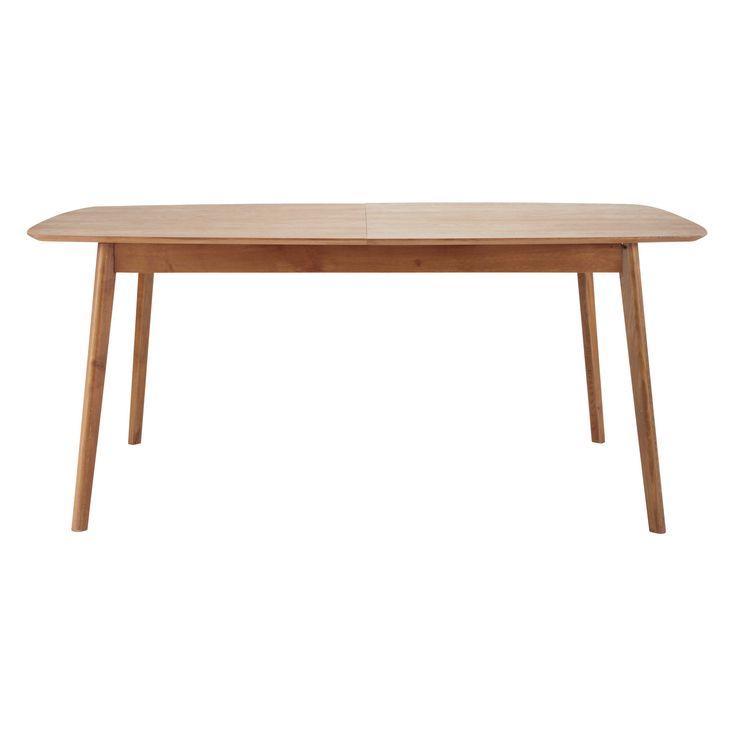 Table de salle à manger vintage en chêne massif L 180 cm Portobello
