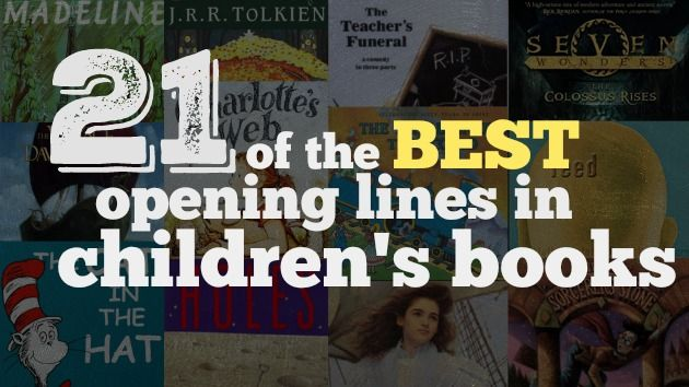 """Are your favorites on the list? Reading the first lines of books is always a great way to """"hook"""" students on a books or motivate them to read."""