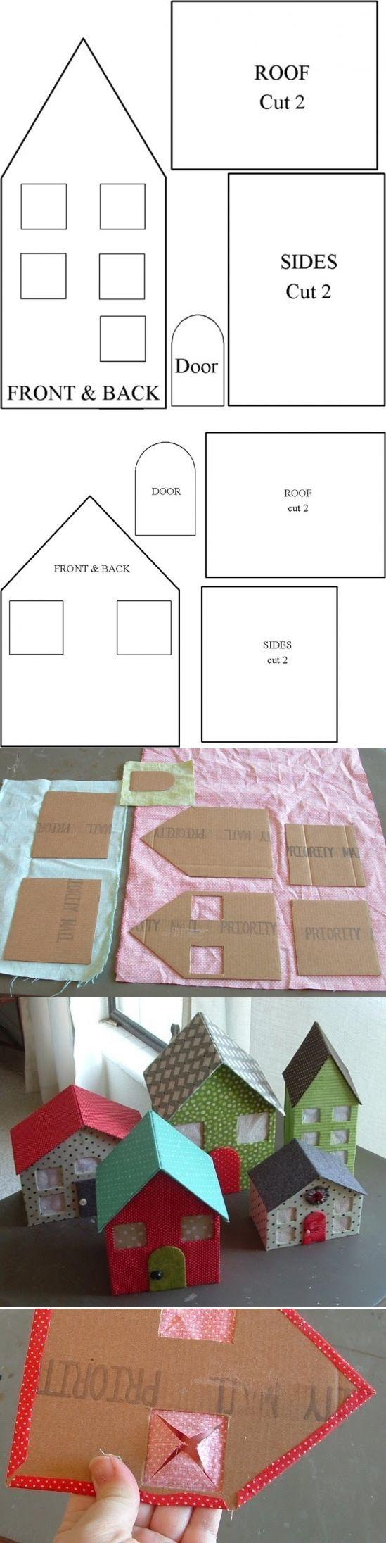 Домики из картона