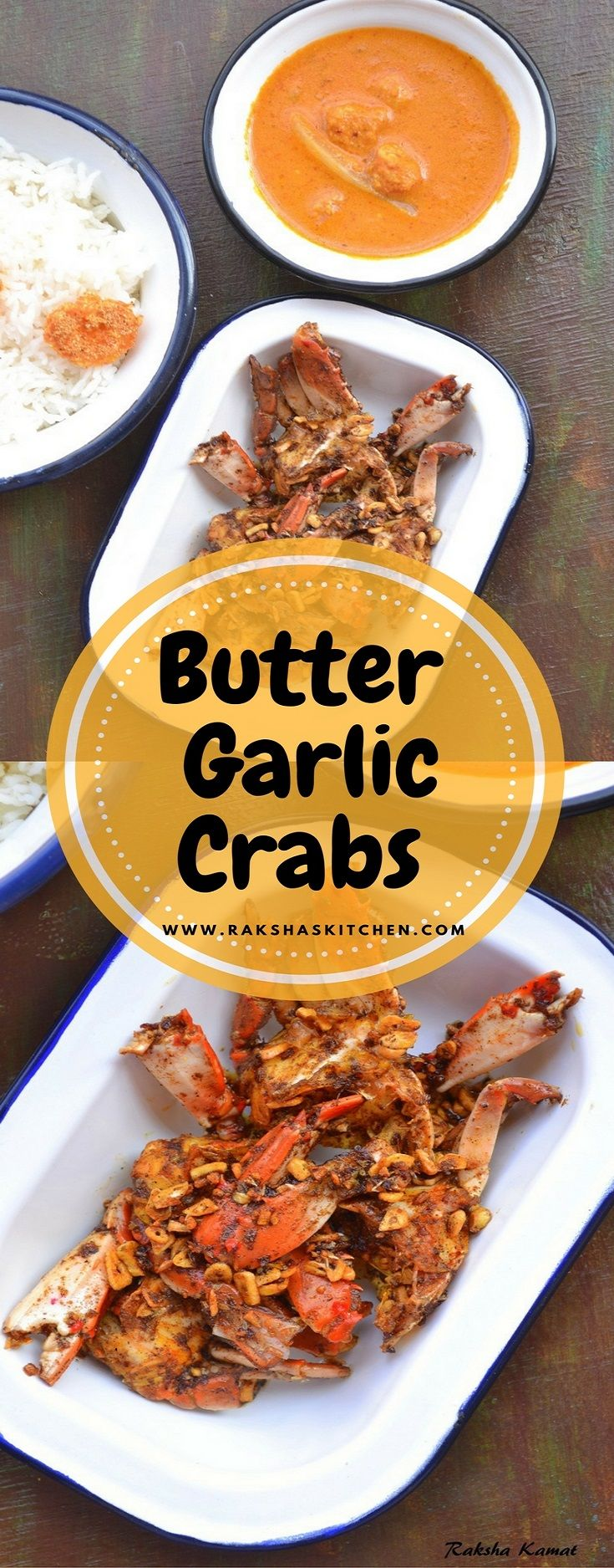 Butter Garlic Crabs #crabs #fish #shellfish #seafood #crabrecipe #starters