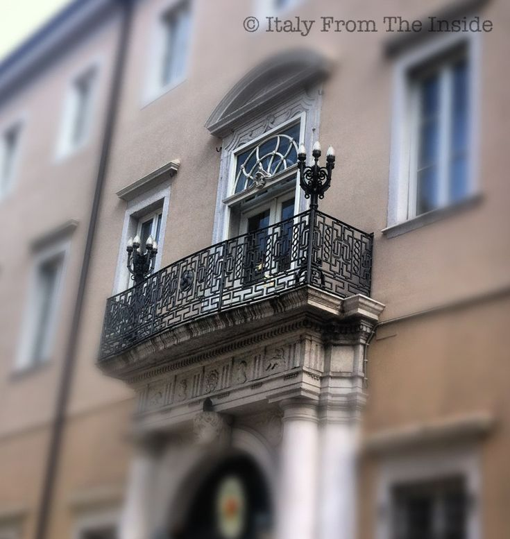 Gorgeous wrought iron balcony in Trieste- Italy from the Inside