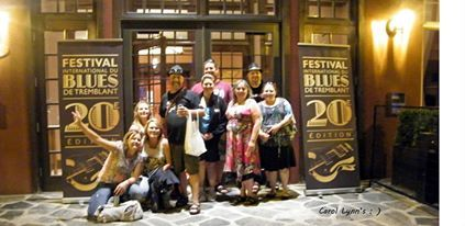 The gang at Bluesfest in Mont Trembant July 13