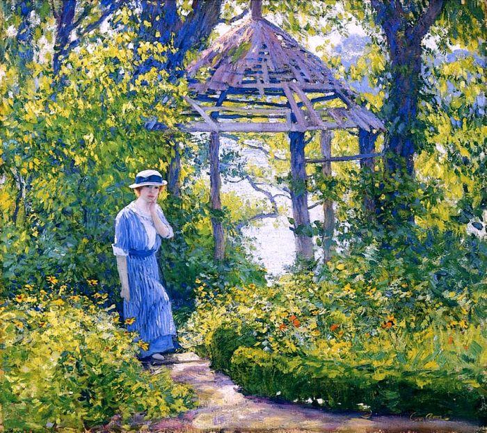 9 Ги Роуз «Девушка в саду Викфорда, Новая Англия» (700x623, 748Kb)
