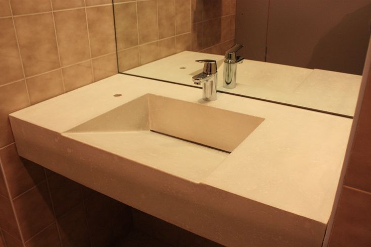 Sweet White Marble Tops Bathroom Trough Sinks Non Vanity With Bathroom Wall  Mirror And Grey Wall Exposed Panels In Small Bathroom Designs